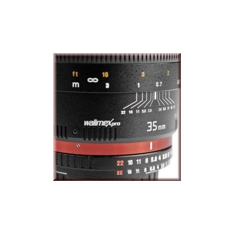 Объективы - walimex pro 35/1,4 DSLR Nikon F AE black - купить сегодня в магазине и с доставкой