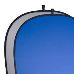 Foto foni - Walimex saliekamais fons 150x200cm pelēks/zils Nr.17697 - perc veikalā un ar piegādi