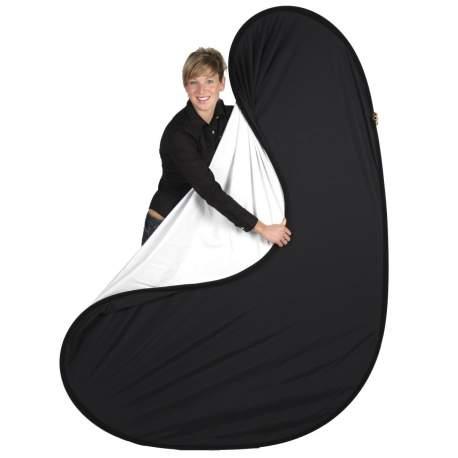 Фоны - walimex 2in1 Fold. Background black/white, 145x200 - купить сегодня в магазине и с доставкой