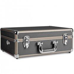 Koferi - mantona Photo Suitcase Basic M, black/brown - купить сегодня в магазине и с доставкой