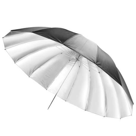 Umbrellas - walimex pro Reflex Umbrella black/silver, 180cm - quick order from manufacturer