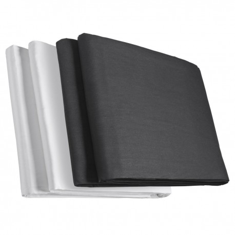 Backgrounds - walimex Two-pack Cloth Background black/white - quick order from manufacturer
