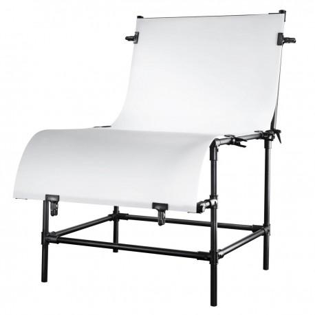 Priekšmetu foto galdi - walimex Shooting Table Basic L, working level 80cm - купить сегодня в магазине и с доставкой
