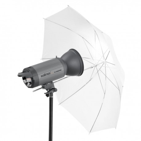 Umbrellas - walimex 2in1 Reflex & Transl. Umbrella white 109cm - quick order from manufacturer