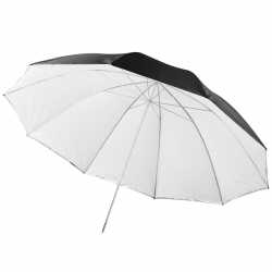 Umbrellas - walimex 2in1 Reflex & Transl. Umbrella white 150cm - buy today in store and with delivery