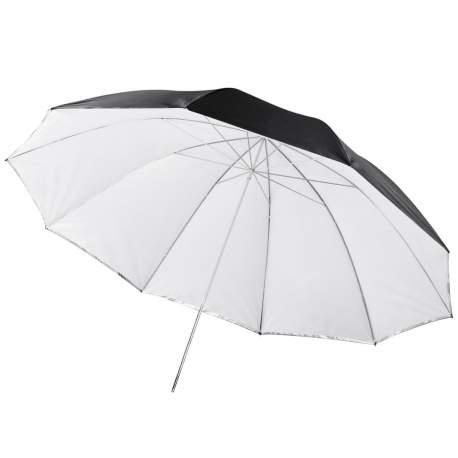 Umbrellas - walimex 2in1 Reflex & Transl. Umbrella white 150cm - quick order from manufacturer