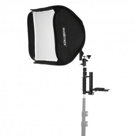 Аксессуары для вспышек - walimex Flip Flash Bracket w. Magic Softbox 40x40 - быстрый заказ от производителя
