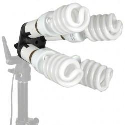 Fluorescējošās - walimex 4-fold Lamp Holder with 4 Daylights - ātri pasūtīt no ražotāja