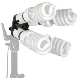 Флуоресцентный - walimex 4-fold Lamp Holder with 4 Daylights - быстрый заказ от производителя