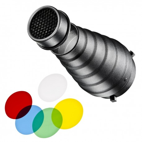Reflectors - walimex Conical Snoot Set w. Universal Connection - quick order from manufacturer
