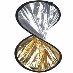 Saliekamie atstarotāji - walimex Double Reflector silver/gold, 30cm - ātri pasūtīt no ražotāja