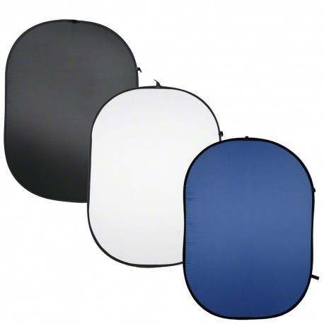 Backgrounds - walimex Foldable Background,3pcs black/white/blue - quick order from manufacturer