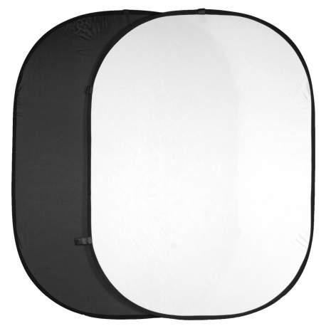 Foto foni - walimex Two-pack Foldable Backgrounds black/white - ātri pasūtīt no ražotāja