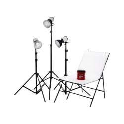 Fluorescējošās - Studioset Daylight 150/150/150 + Shooting Table - ātri pasūtīt no ražotāja