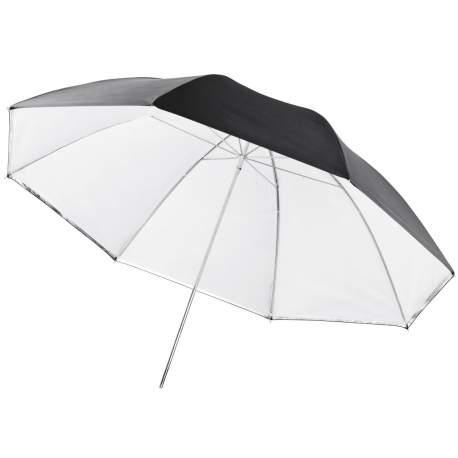 Umbrellas - walimex 2in1 Reflex & Transl. Umbrella white, 84cm - quick order from manufacturer