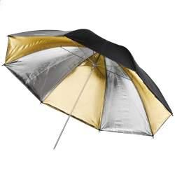 Foto lietussargi - walimex pro Reflex Umbrella Dual gold/silv 84cm 17671 - ātri pasūtīt no ražotāja