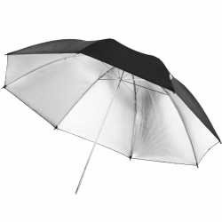 Umbrellas - walimex pro Reflex Umbrella black/silver, 109cm - buy today in store and with delivery