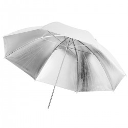 Foto lietussargi - walimex pro Reflex Umbrella white/silver, 109cm 17677 - ātri pasūtīt no ražotāja