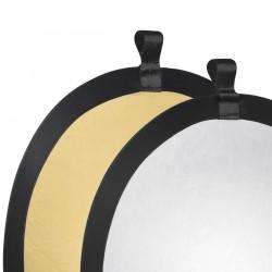 Saliekamie atstarotāji - walimex Foldable Reflector golden/silver, Ø56cm 17689 - ātri pasūtīt no ražotāja