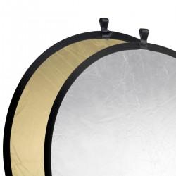 Saliekamie atstarotāji - walimex Foldable Reflector golden/silver, Ø107cm 17690 - ātri pasūtīt no ražotāja