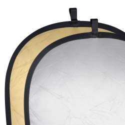 Saliekamie atstarotāji - walimex Foldable Reflector golden/silver 150x200cm 17692 - ātri pasūtīt no ražotāja