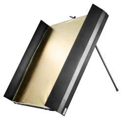 Atstarotāju paneļi - walimex pro Reflector Panel with Barn Doors, 1x1m 18603 - ātri pasūtīt no ražotāja