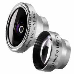Viedtālruņiem - walimex Set Fisheye and Tele Lens for iPhone 18670 - ātri pasūtīt no ražotāja