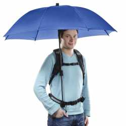 Umbrellas - walimex pro Swing handsfree Umbrella navy w. Carrier System - quick order from manufacturer