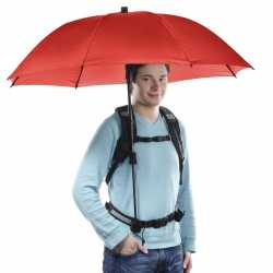 Umbrellas - walimex pro Swing handsfree Umbrella red w. Carrier System - quick order from manufacturer