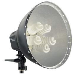 Ekonomiskās - Falcon Eyes Lamp + Reflector 40cm LHD-5250F 5x28W 290520 - ātri pasūtīt no ražotāja