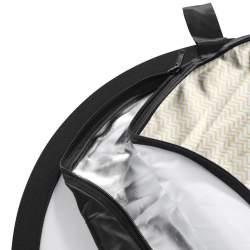 Saliekamie atstarotāji - 5in1 Foldable Reflector Set wavy, 150x200cm 18283 - ātri pasūtīt no ražotāja