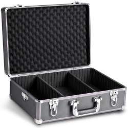Koferi - walimex Photo Suitcase Basic M, black/metallic 18318 - perc šodien veikalā un ar piegādi