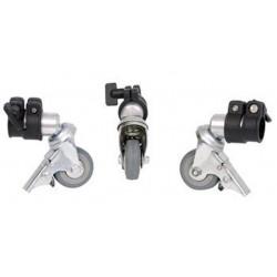 Statīvu aksesuāri - Falcon Eyes Tripod Wheels PCA-19M 3st. 19 mm - perc veikalā un ar piegādi