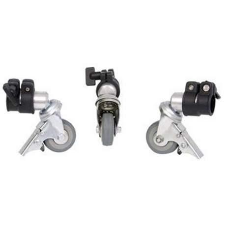 Аксессуары штативов - Falcon Eyes Tripod Wheels PCA-22M 3st. 22 mm - быстрый заказ от производителя