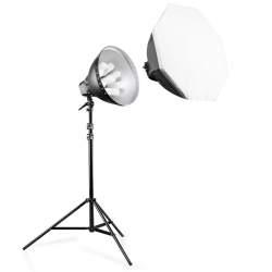 Fluorescējošās - walimex pro Daylight Set 1260 with Softbox 15408 - ātri pasūtīt no ražotāja