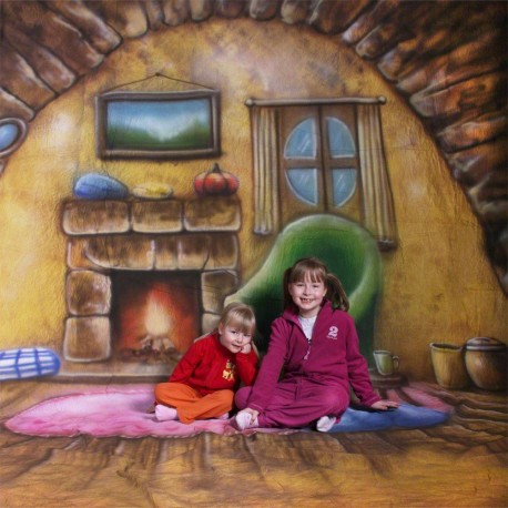 Backgrounds - walimex pro Motif Cloth Background 'Homey', 3x6m - quick order from manufacturer