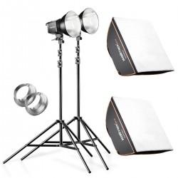 Fluorescējošās - walimex pro Set 2 Daylight 250S+softbox+tripod 20338 - ātri pasūtīt no ražotāja