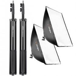 Fluorescējošās - walimex pro Set Daylight 250+Softbox+Tripod 20339 - ātri pasūtīt no ražotāja