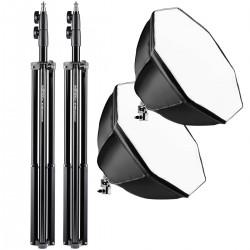 Fluorescējošās - walimex pro Set 2 Daylight 250 + Octagon+ tripod 20340 - ātri pasūtīt no ražotāja