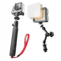 Action kameru aksesuāri - mantona GoPro lightning set Selfie 20452 - ātri pasūtīt no ražotāja