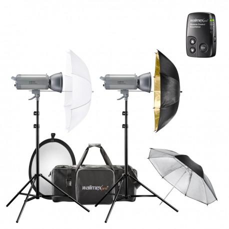 Комплекты студийных вспышек - walimex pro VC Set Classic M 6/5 DS2RS+ - быстрый заказ от производителя