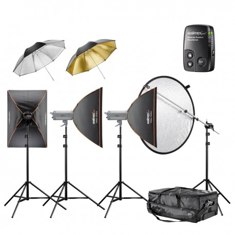 Studio flash kits - walimex pro VC Set Performer 4/4/3 3SB2RS - quick order from manufacturer