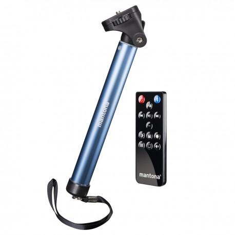 Viedtālruņiem - mantona monopod Selfy blue for Iphone - быстрый заказ от производителя