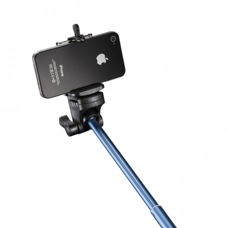 For smartphones - mantona monopod Selfy blue for Iphone - quick order from manufacturer