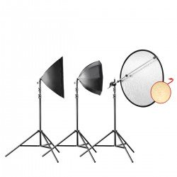 Fluorescējošās - walimex pro Daylight 250 Portrait Vari Kit 21011 - ātri pasūtīt no ražotāja