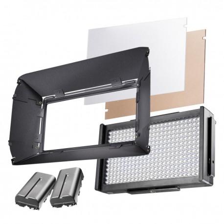 LED Видео свет - walimex pro LED Foto Video Square 312 Bi Color Set - быстрый заказ от производителя