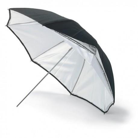 Foto lietussargi - Bowens BW-4036 lietussargs 92cm sudrabs/balts umbrella - perc veikalā un ar piegādi