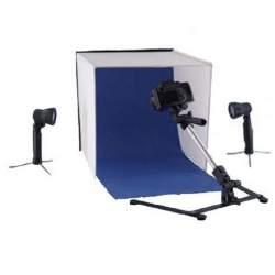 Gaismas kastes - Falcon Eyes saliekama gaismas kaste PBK-40AB-2LS 40x40 cm + 2 x 50W spuldzes 298646 - ātri pasūtīt no ražotāja