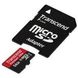 Transcend SDHC/SDXC UHS-I 64GB micro SD atmiņas karte 400x ar SD adapteri class 10