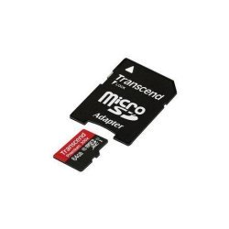 Atmiņas kartes - TRANSCEND 64GB MICROSDXC CLASS 10 U1 400X PREMIUM - ātri pasūtīt no ražotāja